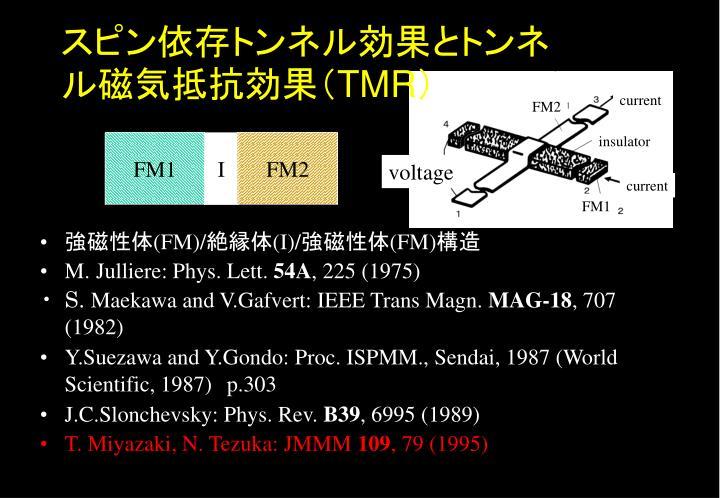 スピン依存トンネル効果とトンネル磁気抵抗効果(