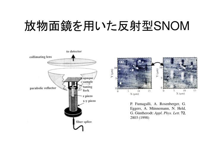 放物面鏡を用いた反射型
