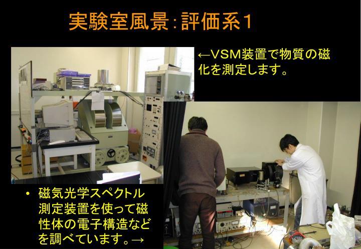 実験室風景:評価系1