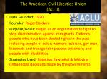 the american civil liberties union aclu