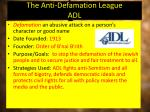 the anti defamation league adl