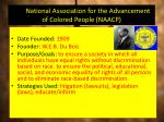 the national association for the advancement of colored people naacp
