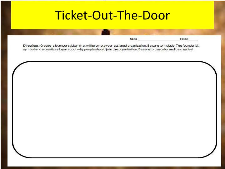 Ticket-Out-The-Door