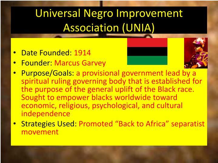 Universal Negro Improvement Association (UNIA)