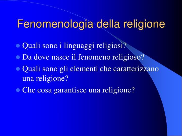 Fenomenologia della religione