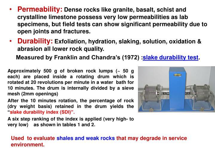 Permeability: