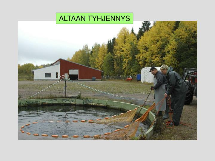 ALTAAN TYHJENNYS