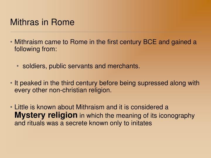 Mithras in Rome
