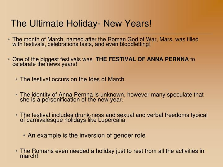 The Ultimate Holiday- New Years!