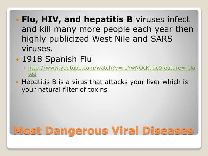 Flu, HIV, and hepatitis B