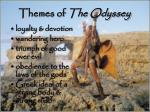 themes of the odyssey