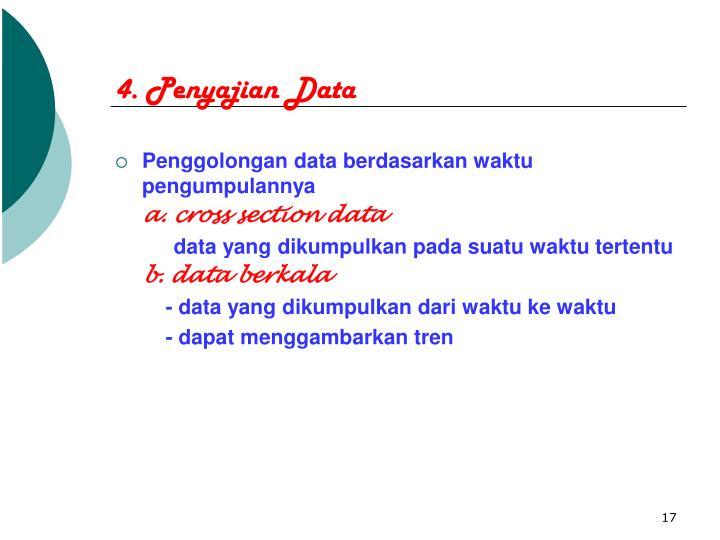 4. Penyajian Data