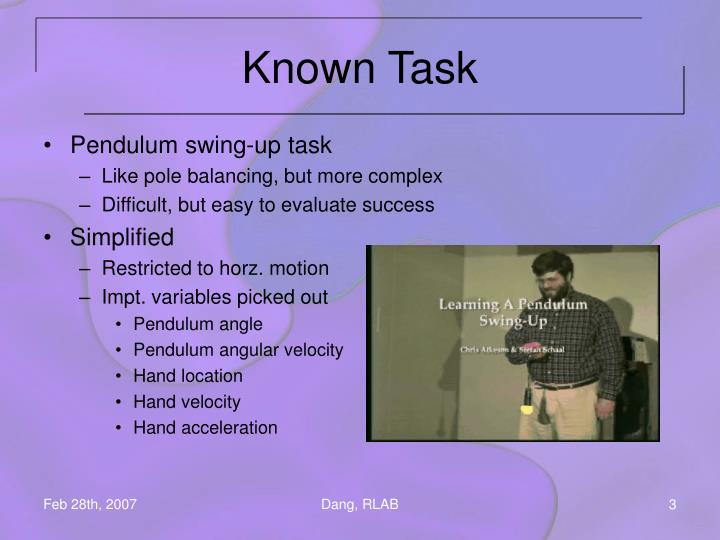 Known Task