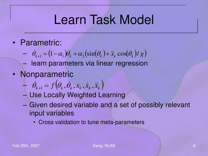 Learn Task Model