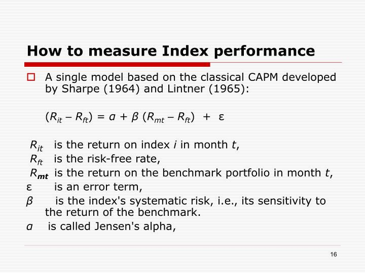 How to measure Index performance