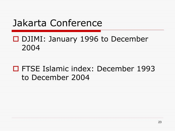 Jakarta Conference