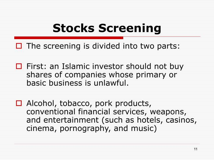 Stocks Screening