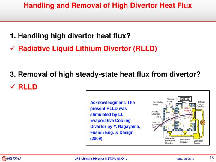 Handling and Removal of High Divertor Heat Flux