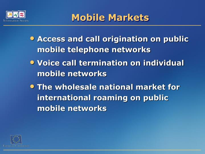 Mobile Markets