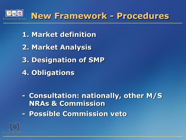 New Framework - Procedures