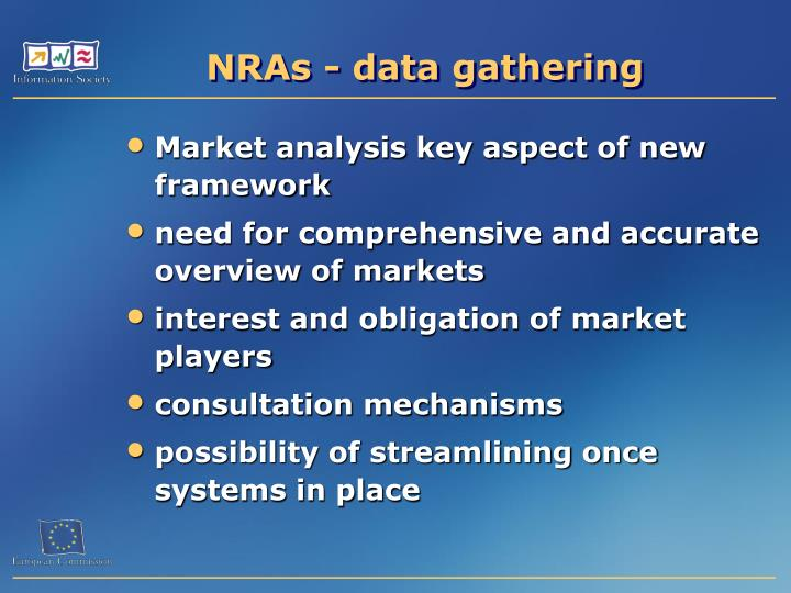 NRAs - data gathering