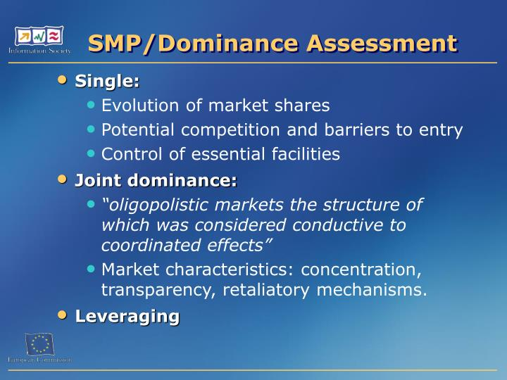 SMP/Dominance Assessment