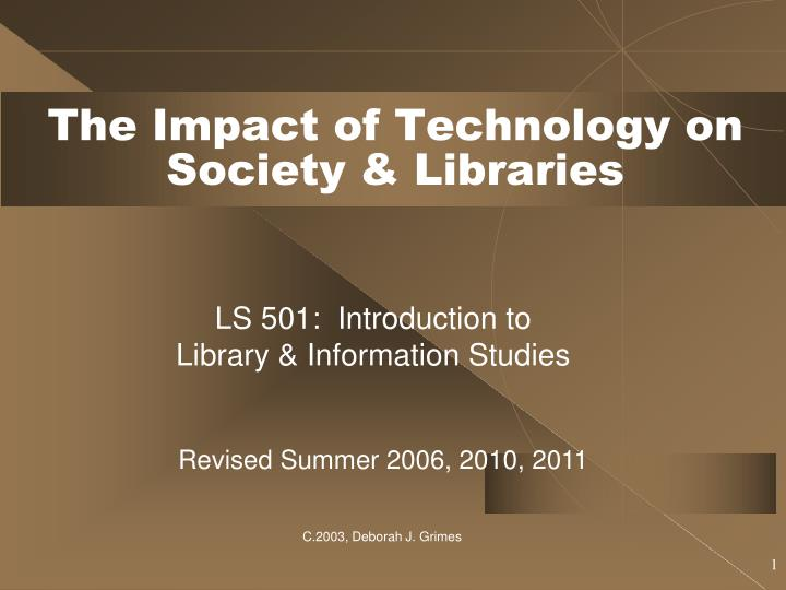 the impact of information technology on