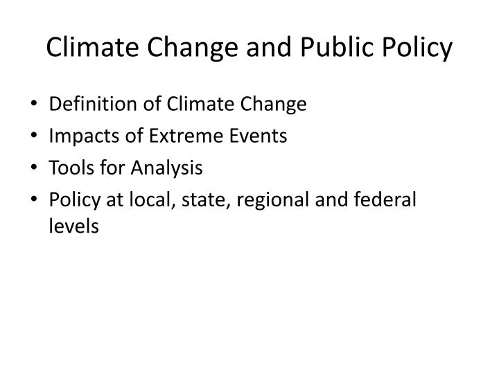 Climate change and public policy