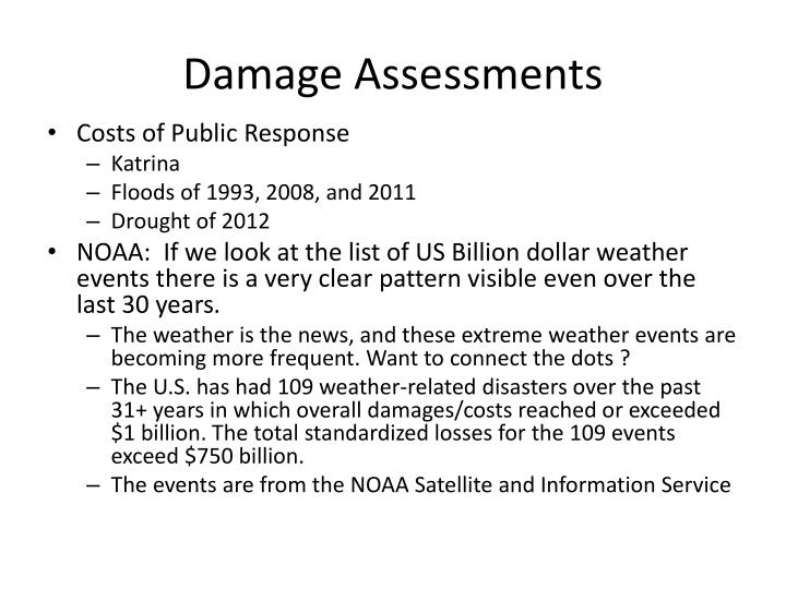 Damage Assessments