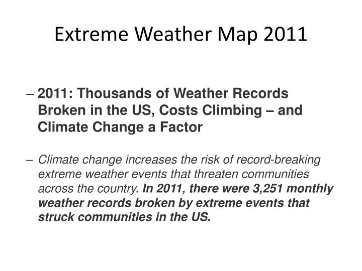 Extreme Weather Map 2011