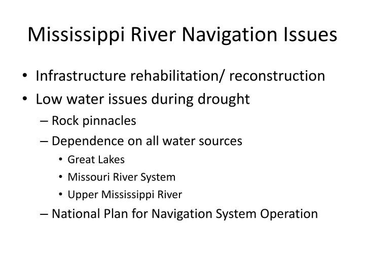 Mississippi River Navigation Issues