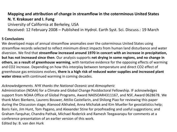 Mapping and attribution of change in streamflow in the coterminous United States