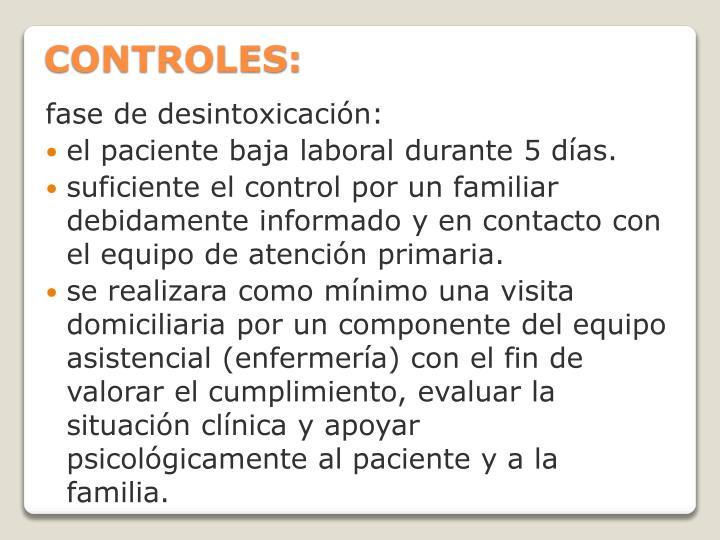 CONTROLES: