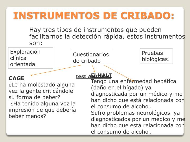 INSTRUMENTOS DE CRIBADO: