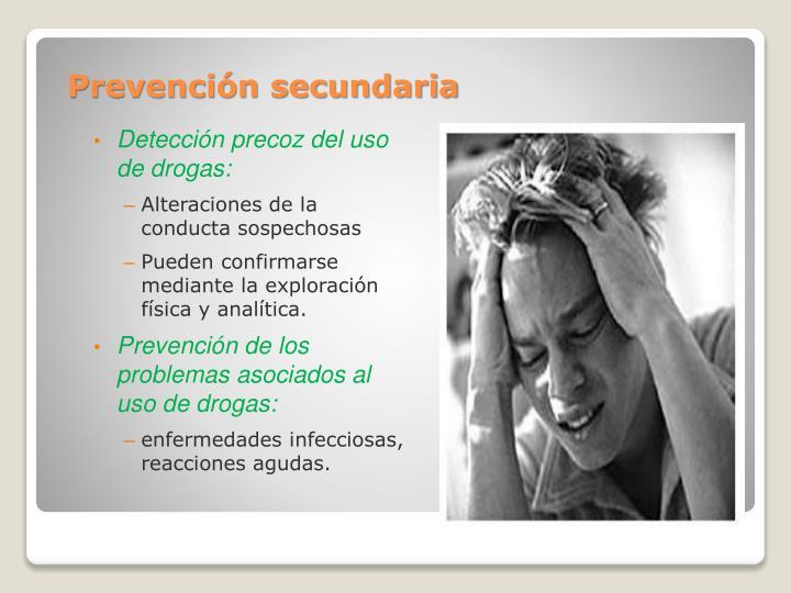 Detección precoz del uso de drogas: