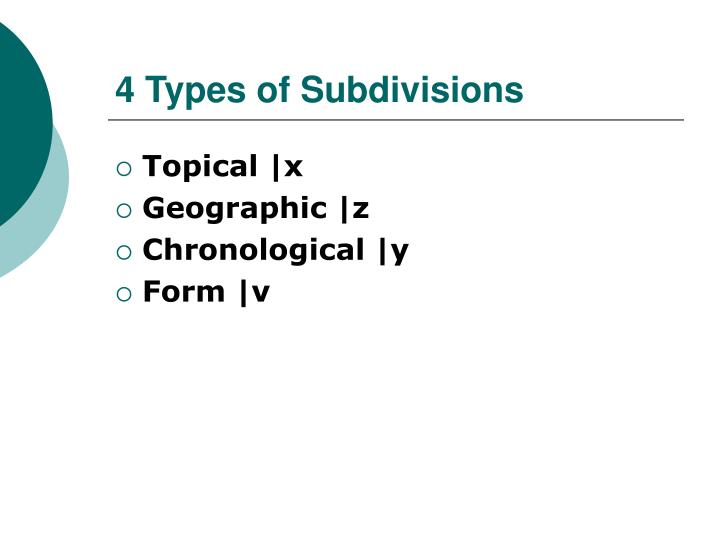 4 Types of Subdivisions