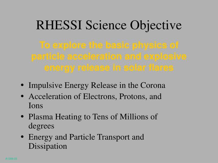 RHESSI Science Objective