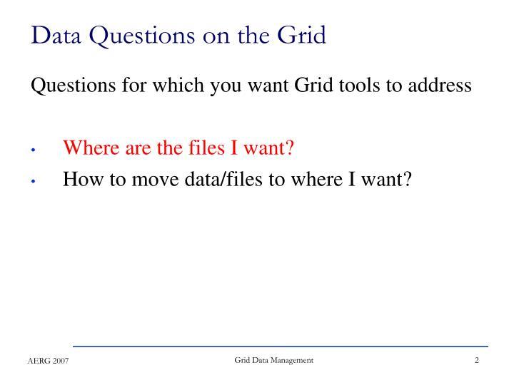 Grid Data Management
