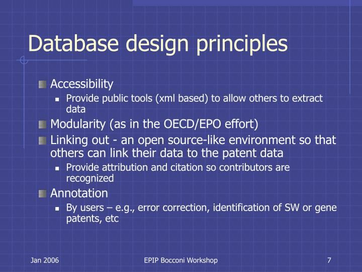 Database design principles