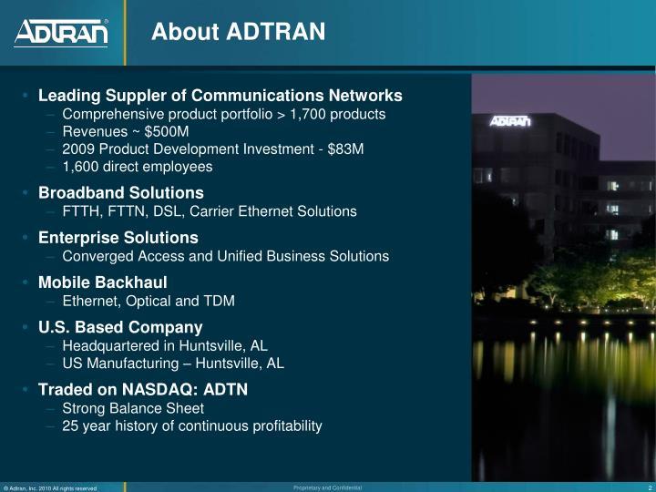 About ADTRAN