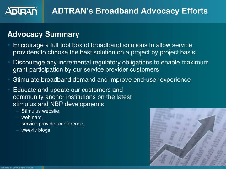 ADTRAN's Broadband Advocacy Efforts