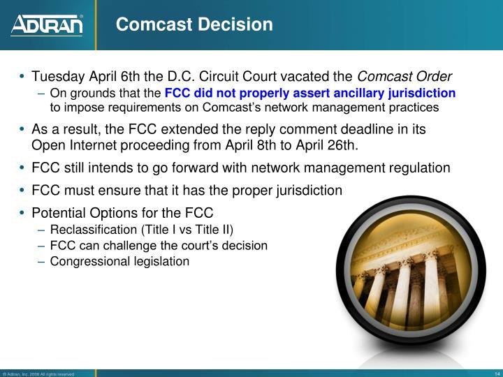 Comcast Decision