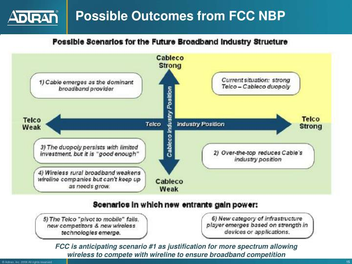 Possible Outcomes from FCC NBP