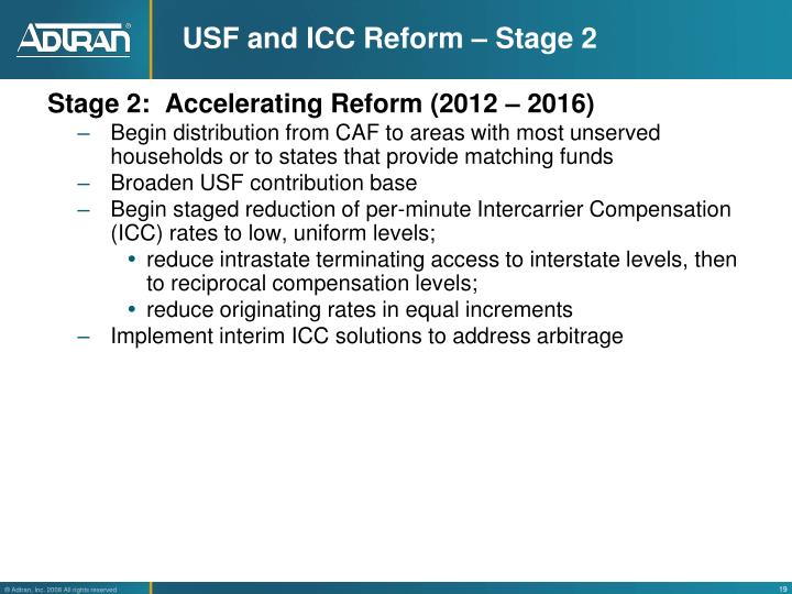 USF and ICC Reform – Stage 2