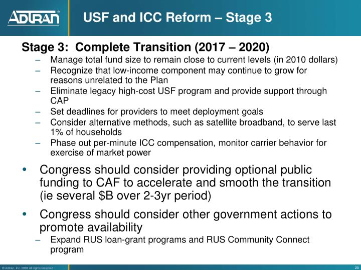 USF and ICC Reform – Stage 3