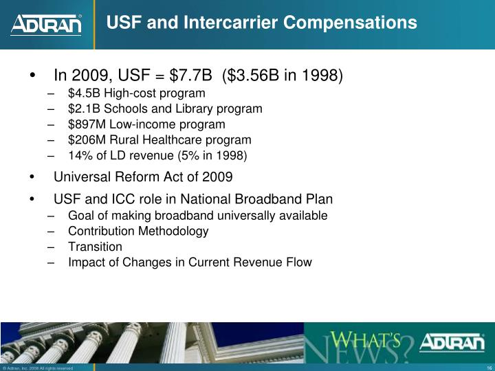 USF and Intercarrier Compensations