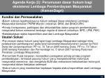 agenda kerja 2 perumusan dasar hukum bagi eksistensi lembaga pemberdayaan masyarakat kemendagri