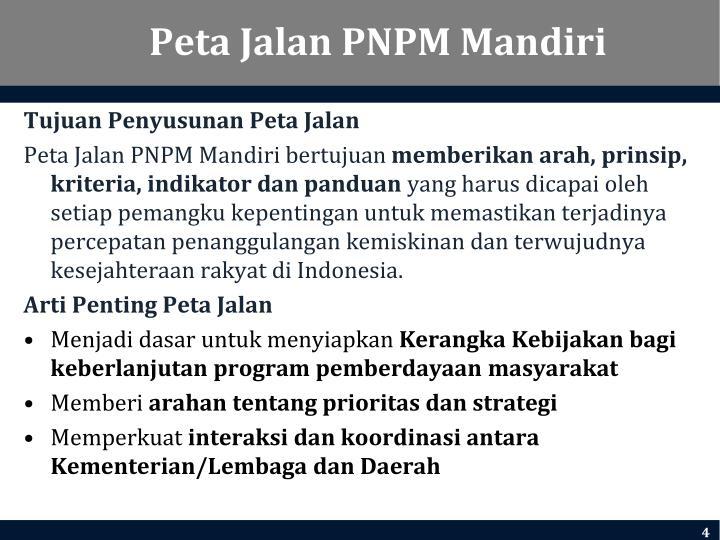 Peta Jalan PNPM Mandiri