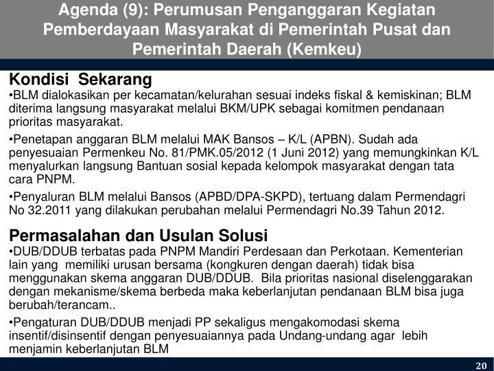 Agenda (9): Perumusan Pengan