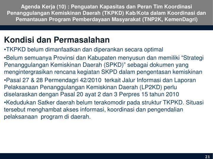 Agenda Kerja (10) :